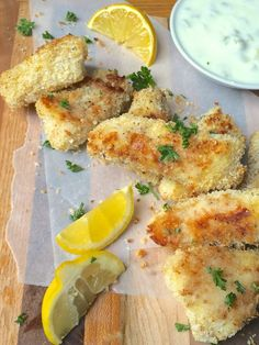 Crispy Baked Fish Sticks with Homemade Tartar Sauce via The Lemon Bowl; Meal Plans Made Simple