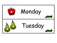Days of the Week Sequencing Cards for the very hungry caterpillar....great for retelling!
