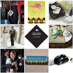 """A golf wedding theme is all """"fore"""" love."""