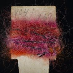 Yarn sample, pink and orange space-dyed mohair