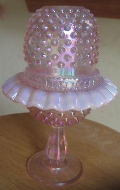 Fenton 3 Piece Hobnail Anniversary Pink Fairy Light Mint