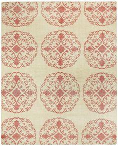 Classic Cardinal / Ivory Mandala Area Rug