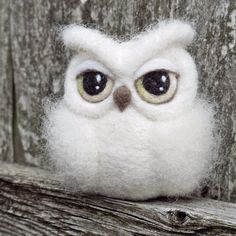 CUSTOM needle felted OWL sculpture soft sculpture by TheLadyMoth