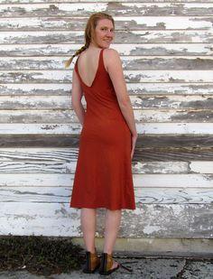 Gaia Conceptions - Double Deep V Below Knee Dress, $140.00 (http://www.gaiaconceptions.com/double-deep-v-below-knee-dress/)