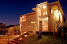The Redondo Beach Shipping Container House by Peter DeMaria Design Associates is a single-family custom home design utilizing recycled ISO cargo containers. The Redondo Beach Shipping Container Hou… Building A Container Home, Storage Container Homes, Container Buildings, Container Architecture, Container Houses, Storage Containers, Container Van, Sea Containers, Cargo Container Homes