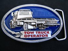 TOW TRUCK OPERATOR CAR TOWING VEHICLE TOOL BELT BUCKLE
