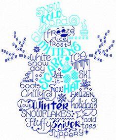 Lets Love Winter cross stitch pattern by Ursula Michael.