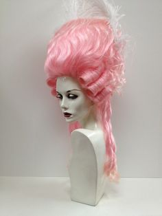 Character Wigs - Outfitters Wig  this wig would be great for a period piece that I could do pearl style with that pink and a white or off white or cream colored lace come together in a big round corseted dress