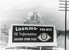 "The Photography of Ed Westcott — Oak Ridge billboard.  ""Looking for Bits of..."