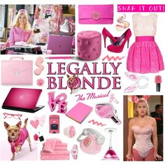 """Legally Blonde"" ELLE WOODS by youmakemehappy7 on Polyvore featuring D&G, Black Rooster, Aspinal of London, Ted Baker, OPI, Glaze, Market, Love Peace and Hope, Mus and Paperchase"