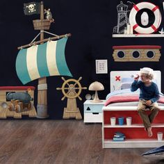 Pirate Ship Room Pack Wall Sticker by Vinyl Impression
