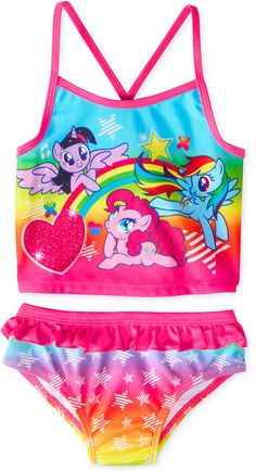 My Little Pony Dream Wave Toddler Girls\u0027 2-Piece Swimsuit - ShopStyle  Swimwear
