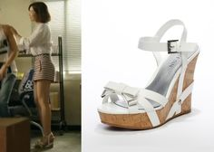 """Jin Se Yeon in """"Doctor Stranger"""" Episode 9.  Guess White Wedge Sandals  #Kdrama…"""