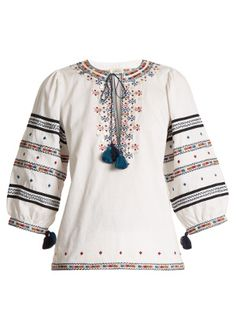 Click here to buy Talitha Dalia Zoya-embroidered cotton top at MATCHESFASHION.COM