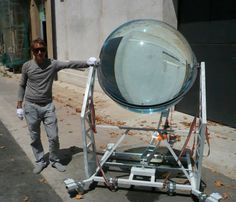 Beautiful globes harvest both solar and lunar energy