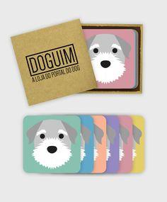 6 cores de fundo e o nome do seu cãozinho