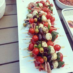 Antipasto Skewers #appetizer by kissmywhisk, via Flickr