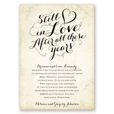 still in love anniversary invitation | wedding anniversary invites at Invitations By Dawn