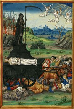 Illustration of Petrarch's Triumph of Death. 16th century