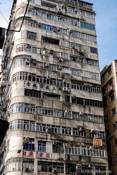 Hongkong Building by Urban Photography, Street Photography, Kowloon Walled City, Cyberpunk City, City Aesthetic, Slums, Urban Planning, City Buildings, Brutalist