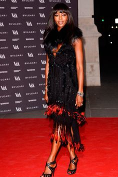 InStyle is the leading site for celebrity style. See expert fashion advice, star hairstyles, beauty tips, how-to videos and real-time red carpet coverage. Celebrity Red Carpet, Celebrity News, Celebrity Style, Beautiful Dresses, Beautiful Women, The V&a, Naomi Campbell, Roberto Cavalli, Fashion Advice