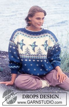 "DROPS 28-5 - DROPS jumper with duck pattern in ""Alaska"". - Free pattern by DROPS Design"