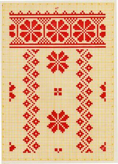 Embroidery from Northern Left-Bank Ukraine, Sumy, Chernyhiw and Starodub regions Cross Stitch Borders, Cross Stitch Flowers, Cross Stitch Charts, Cross Stitch Designs, Cross Stitching, Cross Stitch Patterns, Crewel Embroidery Kits, Embroidery Software, Embroidery Techniques