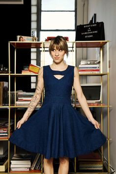 Denim dress by lechatclothing on Etsy, $250.00