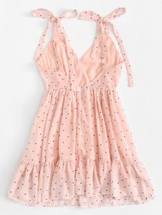 Shop Polka Dot Ruffle Hem Cami Dress at ROMWE, discover more fashion styles online. I Dress, Dress Outfits, Girl Outfits, Fashion Dresses, Tulle Dress, Wrap Dress, Trendy Outfits, Summer Outfits, Cute Outfits