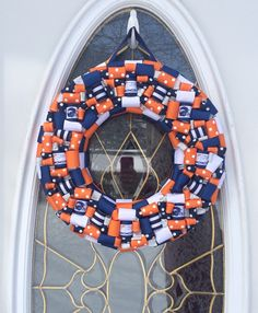 A personal favorite from my Etsy shop https://www.etsy.com/listing/225323394/denver-broncos-wreath