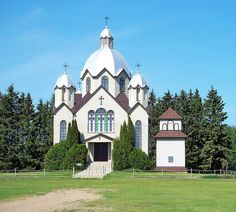 Holy Ascension Russo-Greek Orthodox Church at Skaro, Alberta. Built in 1920.   (On Range Road 200 north of Hwy 45)