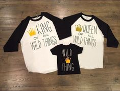 Where the wild things are themed shirts. Birthday themed movie t-shirts. by CreatewithJessy on Etsy Wild One Birthday Party, Boy First Birthday, First Birthday Parties, Birthday Ideas, Birthday Crafts, Husband Birthday, Baby Party, Family Shirts, Shirts For Girls