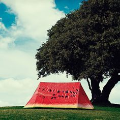 Watermelon Tent! this is what a need for my next summer!