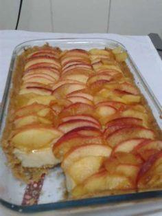 Torta de maçã com creme
