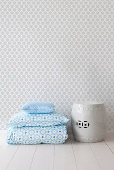 Habitat Baby removable wallpaper in trellis via The Style Net - http://thestylenet.net/kids-stores/habitat-baby