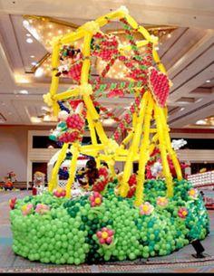 Carousel balloon sculpture #carousel-balloon sculpture #carousel balloon decor #carousel-balloon decor #carousel balloon decoration #carousel-balloon decoration