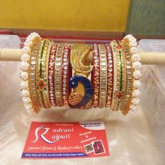 Peacock Chura..... #GoldJewelleryIndian #GoldJewelleryRoyal
