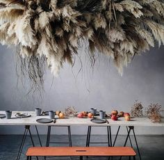 The new trend that's taking over fiddleleaf figs Fiddle Leaf Fig, Flower Backdrop, Better Homes And Gardens, Dried Flowers, Boho Wedding, Design Elements, Floral Arrangements, Backdrops, Table Settings