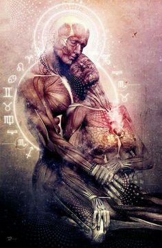 Abraço conecta a alma.