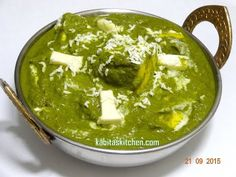 Palak Paneer Recipe-How to Make Easy Palak Paneer-Spinach and Cottage Cheese Recipe – Food recipes Punjabi Palak Paneer Recipe, Paneer Recipe In Hindi, Paneer Recipes, Indian Food Recipes, Ethnic Recipes, Paneer Makhani, Masala Recipe, Yummy Recipes, Paneer Dishes