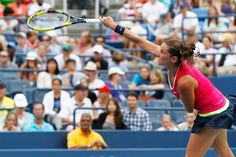 Tennis - 2012 US Open - A surprise win for Roberta Vinci (ITA)[20] against Agnieszka Radwanska (POL)[2] in the fourth round of the 2012 US Open. Vinci won 6-1, 6-4 to advance to a quarterfinal matchup against fellow Italian Sara Errani who defeated 6th seeded Angelique Kerber of Germany 7-6, 6-3. - Philip Hall/USTA