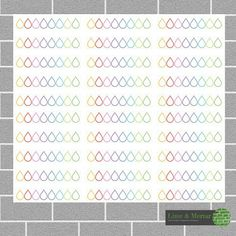 Erin Condren Hydrate Stickers  RAINBOW by LimeandMortar on Etsy