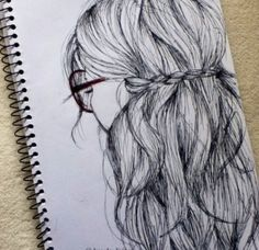 Fantasting Drawing Hairstyles For Characters Ideas. Amazing Drawing Hairstyles For Characters Ideas. Amazing Drawings, Beautiful Drawings, Cool Drawings, Drawing Sketches, Amazing Art, Sketching, Pen Sketch, Drawing Ideas, How To Draw Hair