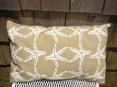 Pillow Beach Throw Pillow Beach House Decor Starfish by salmonbarn, $24.00