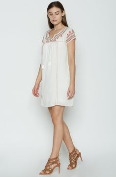 Joie Picrite Peasant Ivory Tunic Dress S
