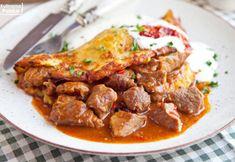 Przepis na najlepszy placek po węgiersku. Nigdzie nie smakuje tak dobrze jak w domu Beef, Dinner, Ethnic Recipes, Food, Meat, Dining, Food Dinners, Essen, Meals