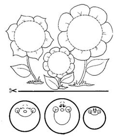 Actividades para niños preescolar, primaria e inicial. Fichas con manualidades para imprimir para niños de preescolar y primaria. Manualidades. 1