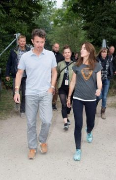 HRH Crown Prince Frederik and HRH Crown Princess Mary as well as other Danish celebrities visit the Roskilde Festival to watch the Rolling Stones perform. Roskilde, 03.07.2014