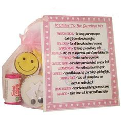 Mum To Be Survival Kit In A Can. Humorous Novelty Fun Gift - New Parent/Mother. Baby Shower/Maternity Present & Card All In One. Customise Your Can Colour. (Pink/Cream)