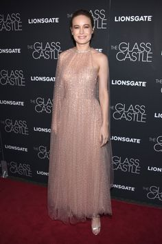 "New Trending Celebrity Looks: Brie Larson in Monique Lhuillier at ""The Glass Castle"" New York Screening: IN or OUT?. Whenever we're in the home stretch of the week, you should probably take our opinions with an even bigger grain of salt. So in the spirit of counting down to Happy Hour, we offer the following:      UGH, NO. This, to our eyes, it absolutely hideous; the sheer whatever-it-is, the mumsiness,..."
